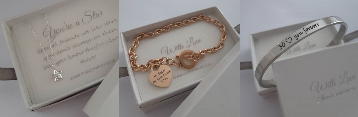 Personalized bracelets online jewellery store in South Africa