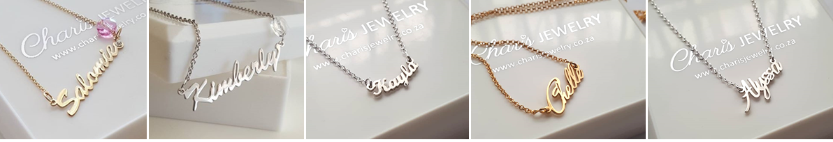a3eefbc1b95b7 Buy Personalized custom Name Necklace in silver or gold, south ...