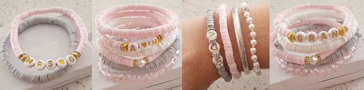 Personalized fashion stack gift bracelets