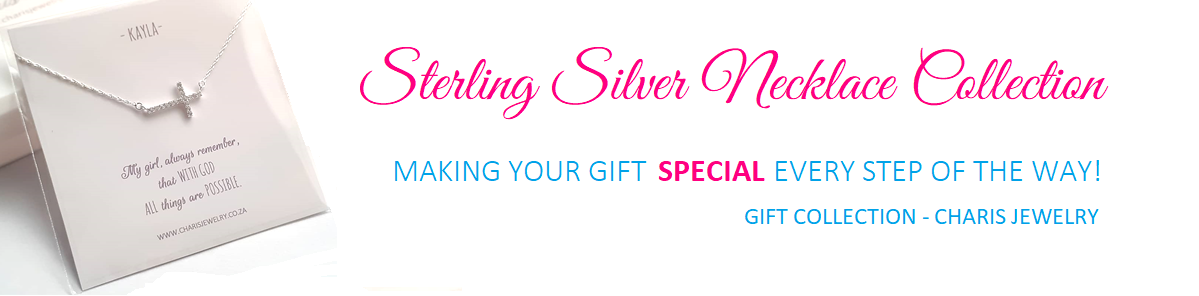 Buy beautiful latest fashion sterling silver gift necklaces, online jewellery shop in South Africa