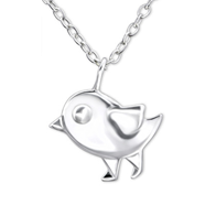 C29652 - Sterling Silvers Children's Origami Bird Necklace