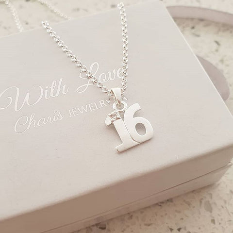 C3202 - 925 Sterling Silver Sweet 16 Necklace