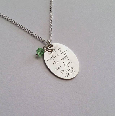 N177 - Sterling Silver Personalized Necklace, with any wording or scripture