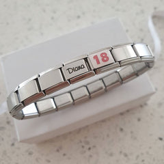 18th birthday gift italian charm bracelet