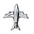 FLC78 - Airplane, Floating Locket Necklace Charm