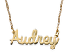 N73 - 18K Gold Plated Personalized Custom Name Necklace
