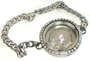 FLS22 - Personalized Bracelet, Family Names with Children birthstones