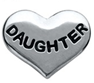 FLC20-LF09 - Daughter Heart Floating Locket Charm