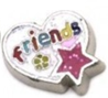 FLC104 - Friends (Red & White) Floating Charm for Floating Locket Necklace