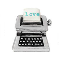 FLC193 - Typewriter, Floating Locket Charm