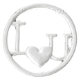 CLB36361 I Love You, Plate for Floating Locket