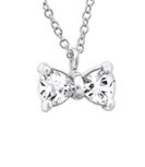 C257-C23795 - 925 Sterling Silver Bow Necklace