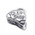 C51-C9622 - 925 Sterling Silver European Bead, Love to Shop
