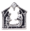 FLC171 - Nativity Scene Charm for Floating Locket Necklace