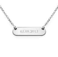 N256 - 925 Sterling Silver Personalized Bar Neklace