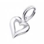 C20440 - Sterling Silver Open Heart Dangle Charm