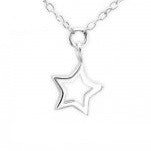 B65-C23956 - 925 Sterling Silver Star Anklet (Ankle Chain) Adjustable Size