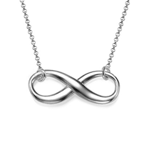 IN103 - Sterling Silver Infinity Necklace