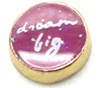 Dream big floating charm