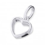 C16312 - Sterling Silver Dangle Open Heart