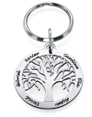 N999 - Sterling Silver Personalized Family Trey Keyring