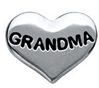 FLC65-LF13 - Grandma Heart floating charm for floating locket necklace