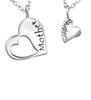 C311-C30448 - 925 Sterling Silver Mother Daughter Necklace set of 2
