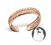 C106-21281 - Rose Gold Plated Double Chain Toe Ring