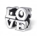 C48-C11188 925 Sterling Silver Love word European Bead Charm