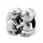 C39-C17101 - 925 Sterling Silver Girl & Boy European Bead