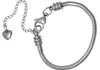 EB7-CQ01099 - Stainless Steel European Charm Bracelet, extender chain, adjustable