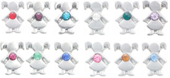 Children birthstone charms for lockets