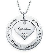 N254 - 925 Sterling Silver Personalized Necklace on bead or rollo chain