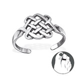 C181-29404 925 Sterling Silver Basket Adjustable Toe Ring