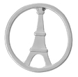 FLD3 - Eiffel Tower Disc for Floating Locket