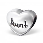 C60-17236 - 925 Sterling Silver Aunt Heart European Bead Charm
