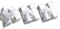 Sterling silver initial letter european charm bead