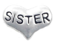 FLC172 - Sister Charm for Floating Locket Necklace