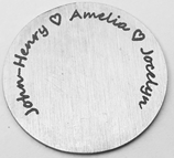 FLPD5 - Personalized Disc for Floating Locket with family names, Silver or Gold Stainless Steel