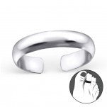 C95-C24326 - 925 Sterling Silver Band Toe Ring, Adjustable Size