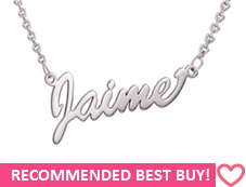 NN2 - Sterling Silver Personalized Name Necklace, (Ready in 8 working days!)