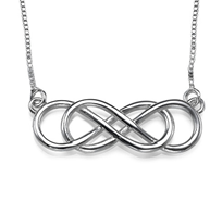 IN101 - Sterling Silver Double Infinity Necklace