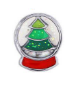 FLC190 - Christmas Tree Snow Globe, Floating Locket Charm