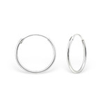 C427-C9418/553 - 925 Sterling Silver Round Hoop Earings 18mm