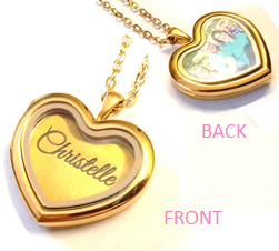 FLS25 - Personalized Name & Photo Locket Necklace