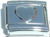 STS-12 - Heart Plain Italian Charm Link, Stainless Steel