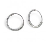 E23-C8176 - 925 Sterling Silver Hoop Earrings 12mm (suitable for school)