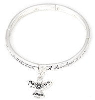 312E - Daughter Blessing Stretch Bracelet