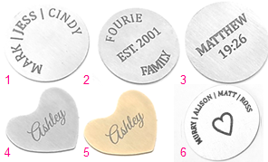 FLPD4 - Personalized Stainless Steel Disc for Floating Locket Necklace