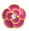 FLC10 - Pink Rose with Stone, Floating Charm for Locket
